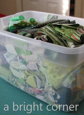 green scrap bin
