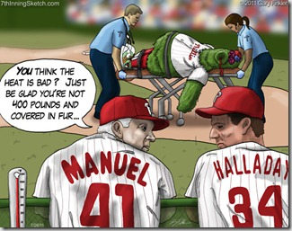 Phillies heat cartoon