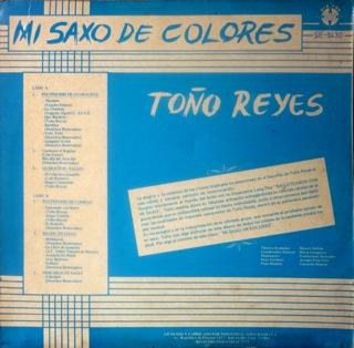 Toño Reyes  Mi Saxo De Colores  LP Back