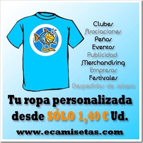 Camisetas personalizadas para tu club desde 1,40 €/unidad, gracias a ECAMISETAS.COM.
