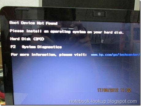 บันทึกช่าง Compaq Cq42 อาการ Boot Device Not Found