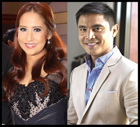 Jolina Magdangal and Marvin Agustin