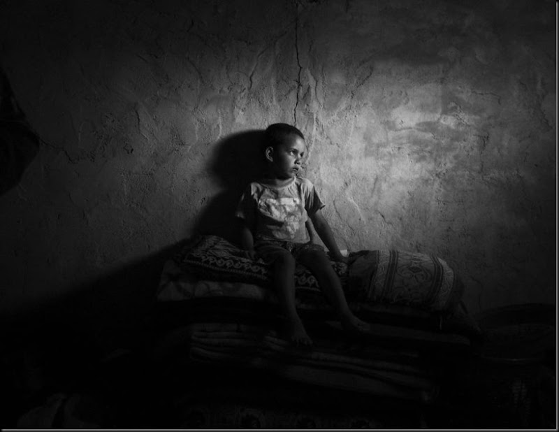 Abd El Rahman, 10, a Syrian refugee in the Bekaa Valley, Lebanon. (Moises Saman/Magnum Photos for Save the Children)
