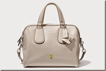 Peanuts X Coach chalk white satchel bag