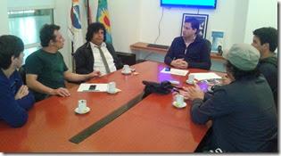 La banda de la zona sur de La Costa mantuvo una larga conversación con el intendente de La Costa, Juan Pablo de Jesús