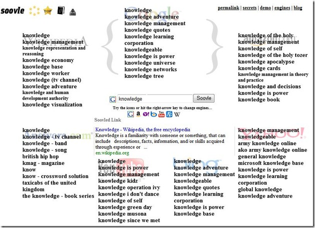 search comparison - Soovle knowledge google