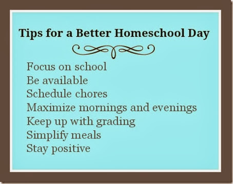 Tips for a Better Homeschool Day