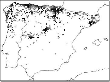 Mapa Lucanus cervus Esp