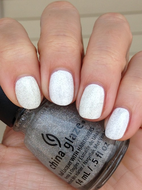 China Glaze Fairy Dust (over White On White)