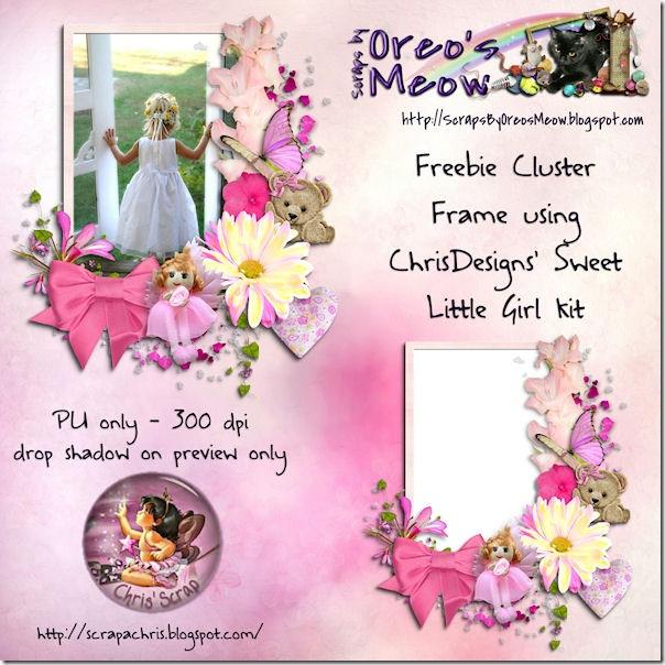 SBOM for ChrisDesign - Sweet Little Girl Cluster Frame Preview