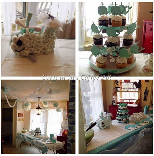 WHALE THEME BABY SHOWER