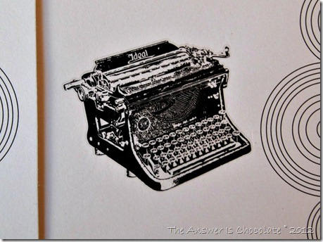 Vintage Typewriter Card