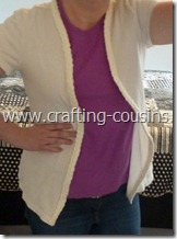 polo shirt to cardigan refashion (2)