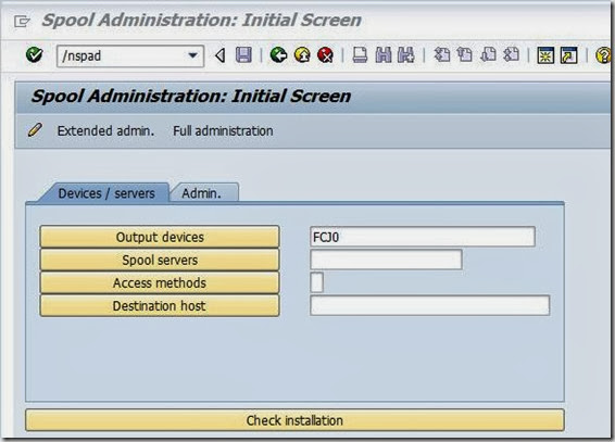 Changing page format in SAP Printer via SPAD
