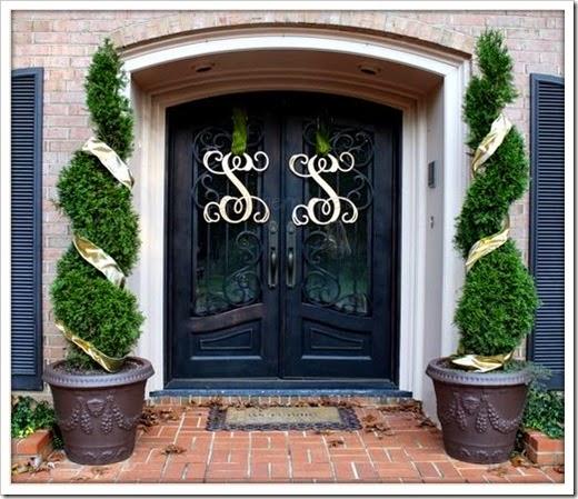 monogram on door