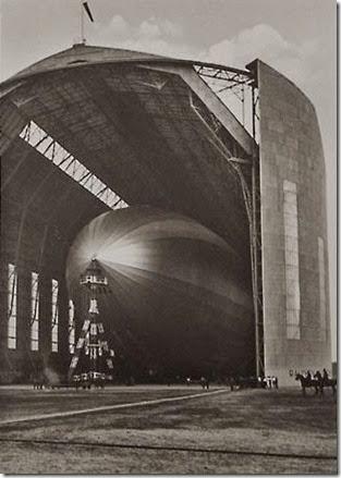 Hindenburg in hangar at Rhein-Main