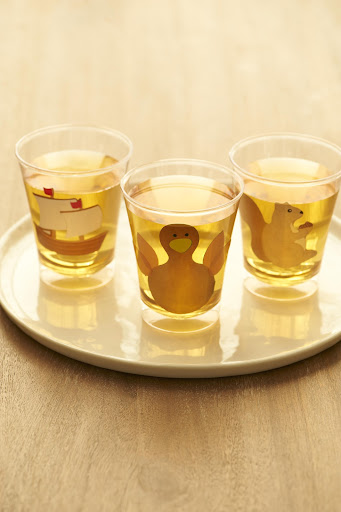 Dress up your glass of apple cider with Oriental Trading, www.orientaltrading.com, Thanksgiving stickers.  Get your kids involved and have them help you decorate!