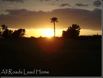 AZ sunset mesa
