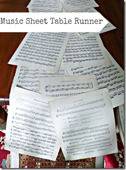 vintage music sheet crafts