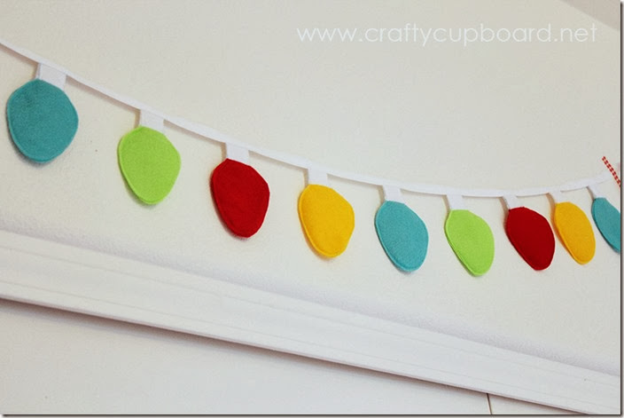 Christmas Light Garland tutorial Fun Christmas Decor