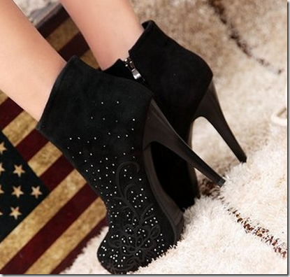 botas ankle boot preta cano curto bota fivela botas la linda shoes bota camurça 3
