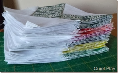 A Stack of Paper Piecing