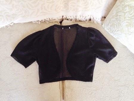 Sheer black bolero for the 40s fashion challenge   Lavender & Twill