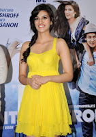Actors Tiger Shroff and Kriti Sanon during the music launch of the movie Heropanti in Mumbai on Apri2013_16.jpg