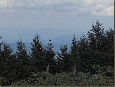Hike to overlook at Mt Mitchell