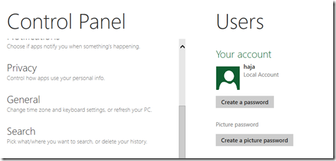 Steps To Setup Picture Password in Windows 8 1