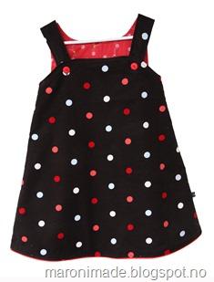 kjole med prikker