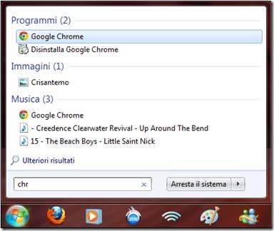 Avviare programmi dal motore di ricerca Windows