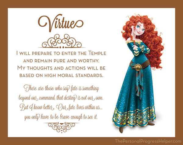 Young Women Value Disney Princess Posters | Virtue: Merida