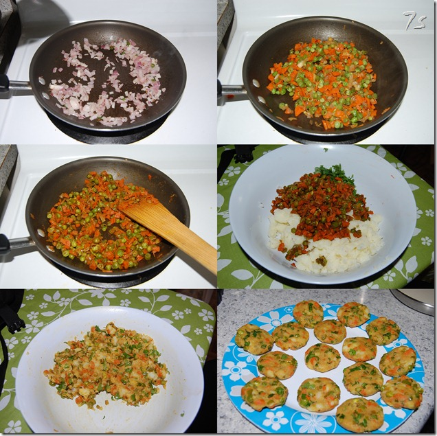 Vegetable cutlet process1