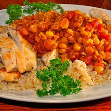 Arroz Amarillo Con Garbanzos (Saffrron Rice With Chickpeas)