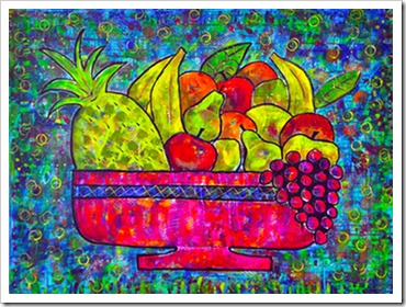 fruit bowl painting