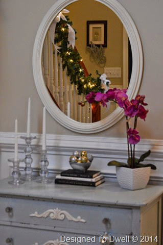Entry Table Decorated for Christmas