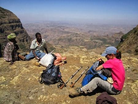 Muntii Simien - Etiopia: Panorama de pe varful Immet Gogo