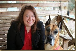 Diana Marie Dubois with her Dog