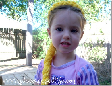 diy rapunzel halloween costume and wig