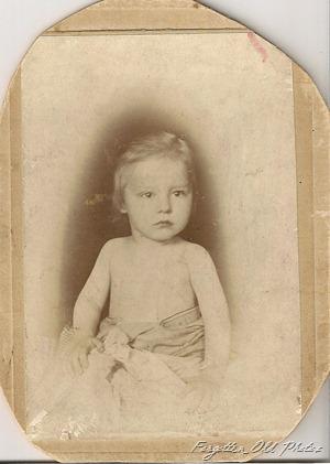 Child in a towel Brainerd Antiques