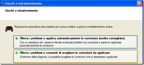 Fix it Microsoft Giochi e intrattenimento