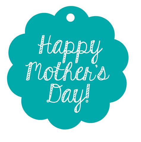 Happy Mother's Day label