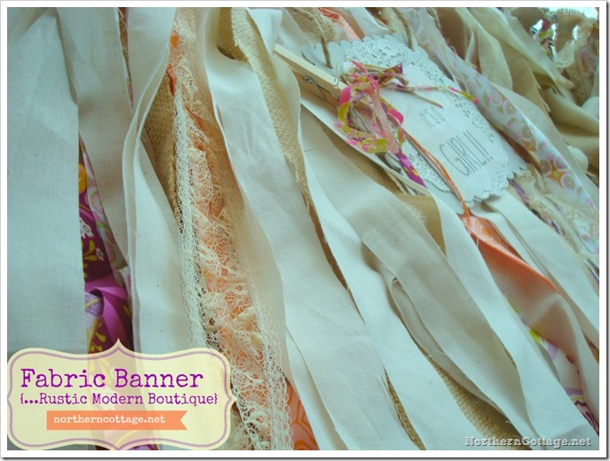 {Northern Cottage} fabric banner