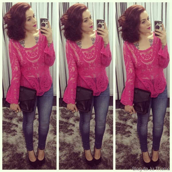 look blusa renda pink e jeans (1)