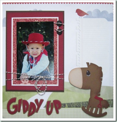 cowboy horse cricut layout idea 500
