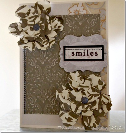 Damask Card Smiles