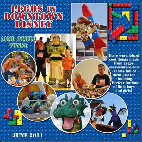 Legos in Downtown Disney