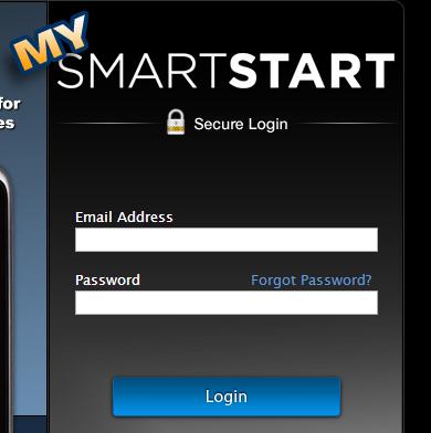 Viper login screen with padlock