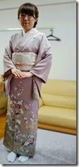 着物で卒園式に (2)